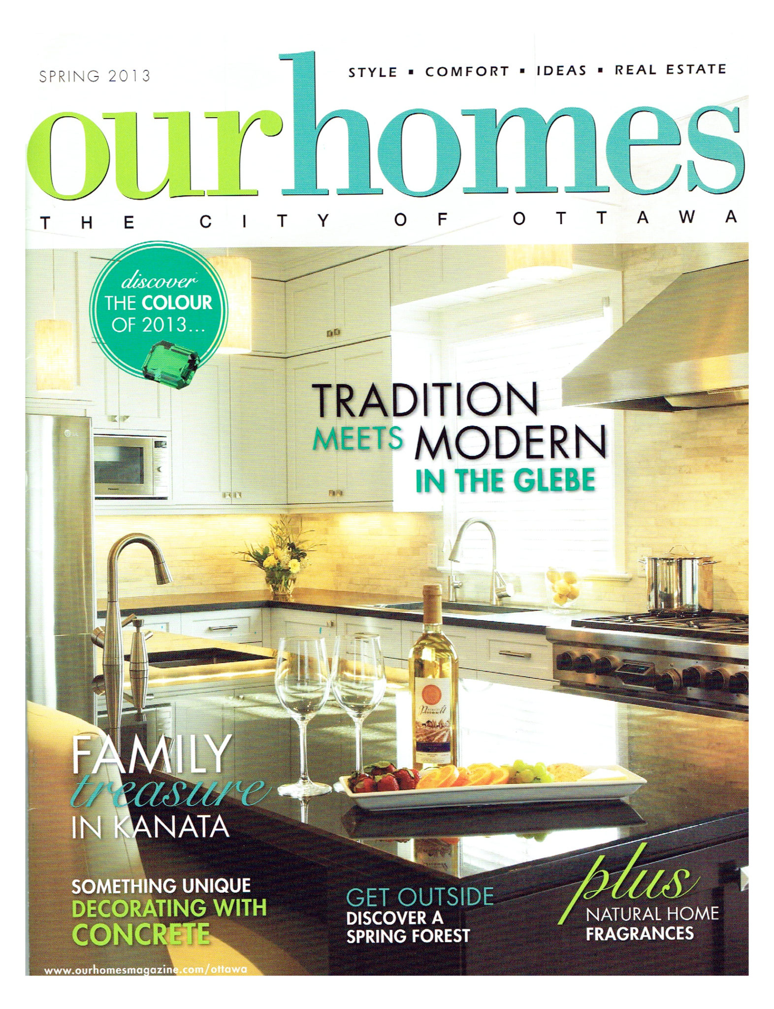 On the cover of Our Homes magazine